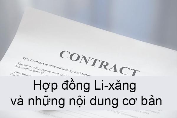 Hop Dong Li Xang Va Nhung Noi Dung Co Ban
